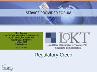 Regulatory Creep