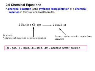 2.6 Chemical Equations