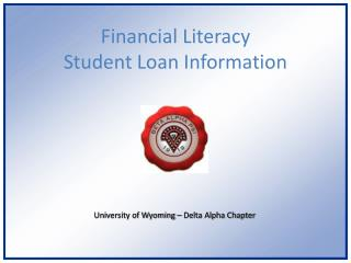 Financial Literacy Student Loan Information
