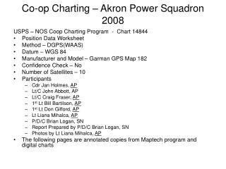 Co-op Charting – Akron Power Squadron 2008