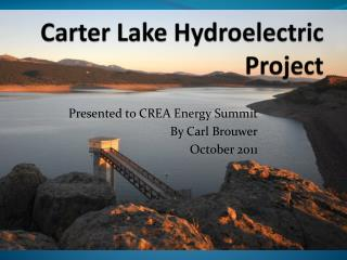 Carter Lake Hydroelectric Project