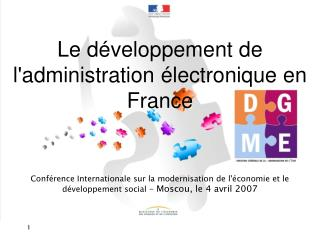 Le d�veloppement de l'administration �lectronique en France