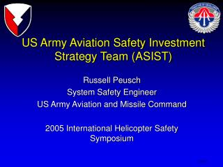 US Army Aviation Safety Investment  Strategy Team (ASIST)