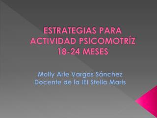 ESTRATEGIAS PARA ACTIVIDAD PSICOMOTRÍZ 18-24 MESES