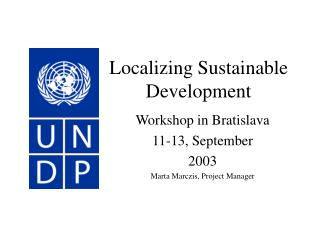 Localizing Sustainable Development