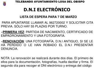 TELEBANDO AYUNTAMIENTO LOSA  DEL OBISPO