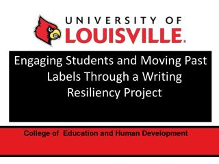 Engaging Students and Moving Past Labels Through a Writing Resiliency Project