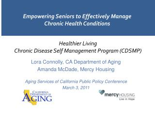 Empowering Seniors to Effectively Manage Chronic Health Conditions