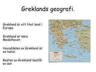 Greklands geografi.