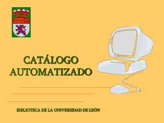CAT�LOGO AUTOMATIZADO