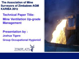 The Association of Mine  Surveyors of Zimbabwe AGM  KARIBA 201 2