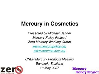 Mercury in Cosmetics