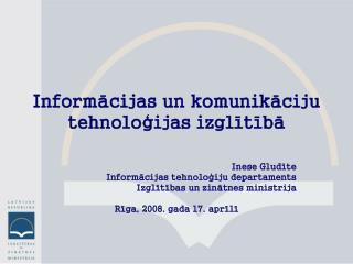 Informācijas un komunikāciju tehnoloģijas izglītībā