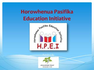 Horowhenua Pasifika  Education Initiative