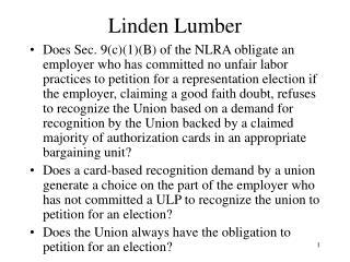 Linden Lumber