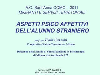 prof. ssa   Evita Cassoni Cooperativa Sociale Terrenuove  Milano