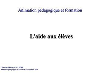 Animation pédagogique et formation