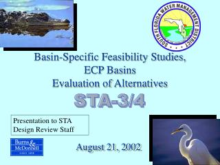 Basin-Specific Feasibility Studies, ECP Basins  Evaluation of Alternatives