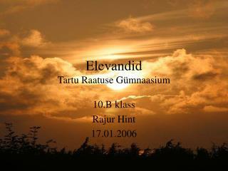 Elevandid Tartu Raatuse Gümnaasium