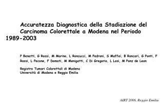 AIRT 2006, Reggio Emilia