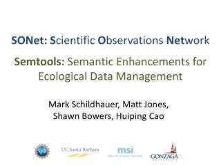 SONet: S cientific  O bservations  Net work