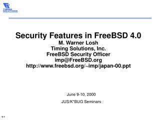 June 9-10, 2000 JUS/K*BUG Seminars