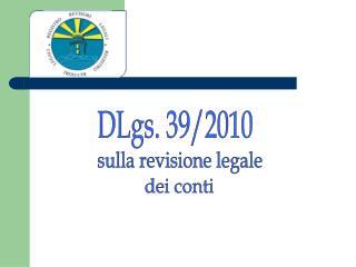 DLgs. 39/2010