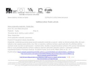 Název šablony: Inovace ve fyzice52/F05/10.11.2012,Slabá Janoutová