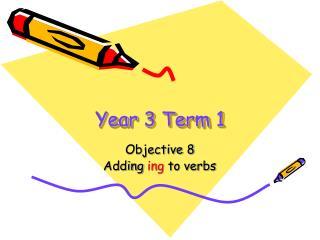 Year 3 Term 1