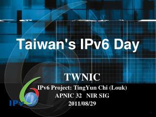 Taiwan's IPv6 Day