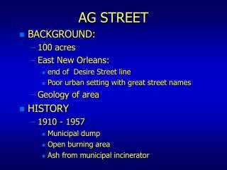 AG STREET