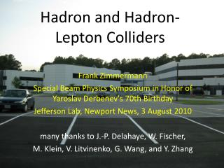 Hadron and Hadron-Lepton Colliders