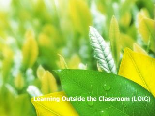 Learning Outside the Classroom  (LOtC)