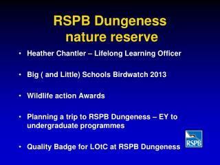 RSPB Dungeness  nature reserve