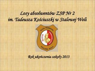 Losy absolwentów ZSP Nr 2 im. Tadeusza Kościuszki w Stalowej Woli