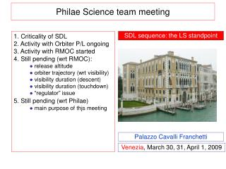 Philae Science team meeting
