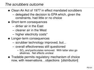 The scrubbers outcome