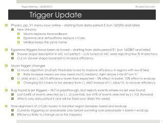 Trigger Update