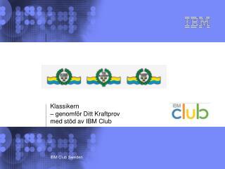 Klassikern  – genomför Ditt Kraftprov med stöd av IBM Club