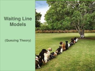 Waiting Line Models   Queuing Theory
