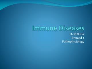 Immune Diseases