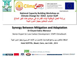 Dr  Elsyed Sabry Mansour Senior Expert for Low Carbon Development / ENPI  ClimaSouth