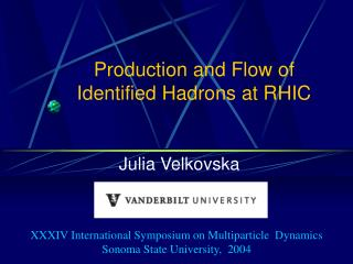 Production and Flow of Identified Hadrons at RHIC
