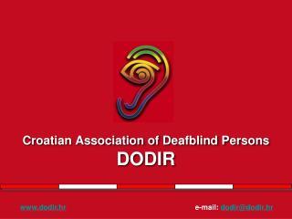 Croatian Association of Deafblind Persons DODIR