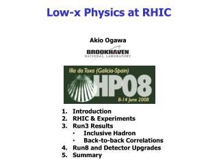 Low-x Physics at RHIC