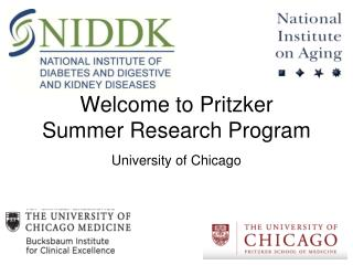 Welcome to Pritzker  Summer Research Program