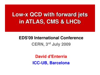 Low-x QCD with forward jets in ATLAS, CMS & LHCb