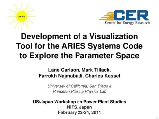 Development of a Visualization Tool for the ARIES Systems Code to Explore the Parameter Space