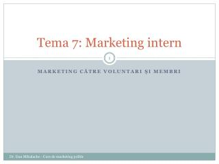 Tema 7: Marketing intern