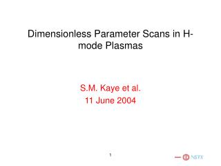 Dimensionless Parameter Scans in H-mode Plasmas